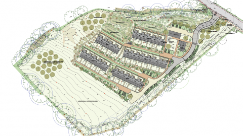 Transition Homes site plan, Clay Park