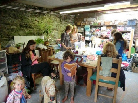 Felt-making at the Cauldron with Geraldine