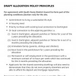 Draft Allocation Policy principles
