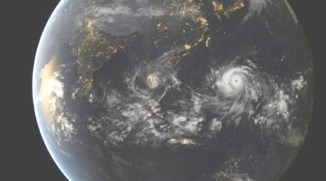 super typhoon seen from space
