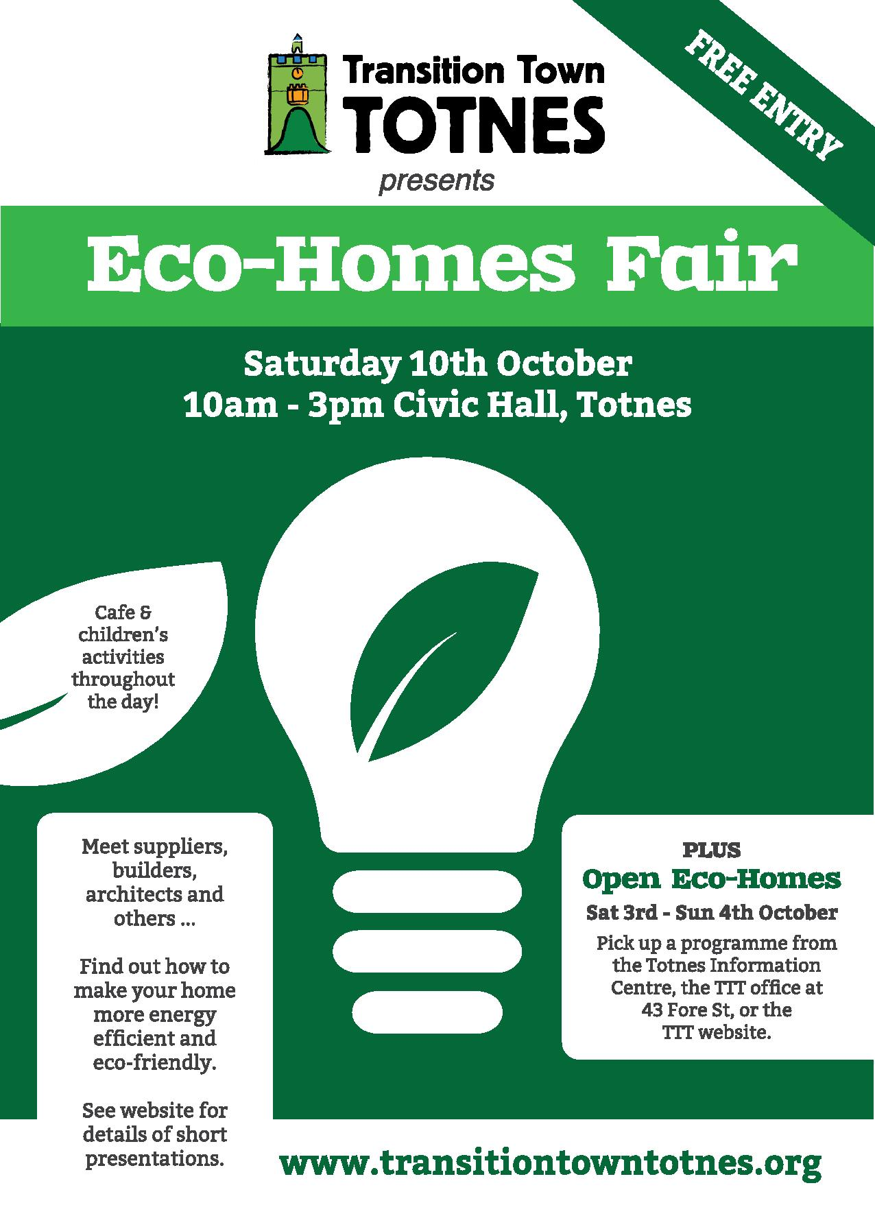 Open Eco Homes Oct 2015 Download Your Programme Here