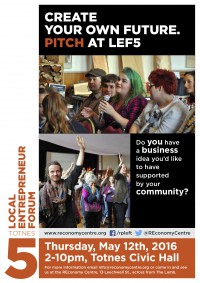 Pitch at the Local Entrepreneur Forum