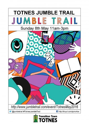Totnes Jumble Trail May 2016 TTT - A4 Poster